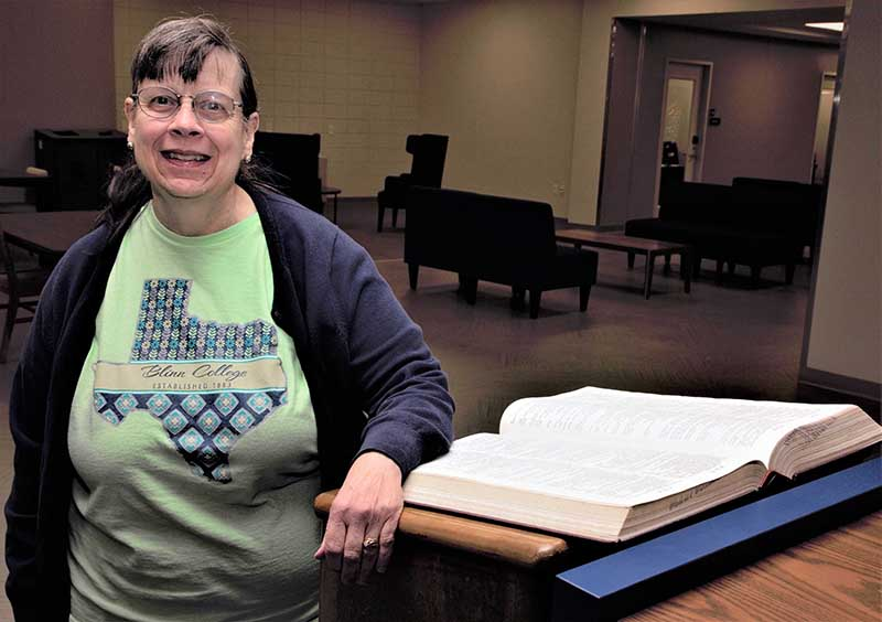 Chaney marks 35 years at Moody Library